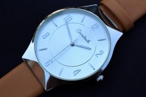 Seventeenth Watches - Leather Strap White Chronos